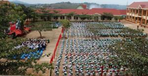 Toàn cảnh Nhà trường trong buổi lễ