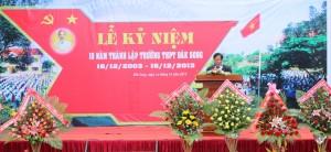 Đ.c Trương Anh-TUV, Giám đốc Sở GDĐT phát biểu tại buổi lễ