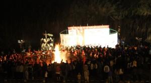 Toàn cảnh đêm lửa trại hội thi Văn hóa, thể thao các trường PTDTNT năm 2013