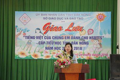 """Hội thi và giao lưu """"Tiếng Việt của chúng em dành cho học sinh dân tộc thiểu số"""" bậc Tiểu học cấp tỉnh, năm học 2017 – 2018"""