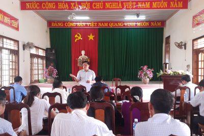 Giám đốc Sở GDĐT làm việc với UBND xã Nam Dong về việc thu 400.000 đồng/học sinh/năm để xây dựng nông thôn mới