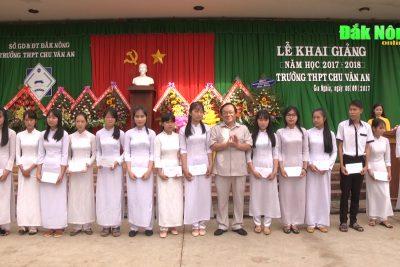 Bí thư Tỉnh ủy dự khai giảng tại Trường THPT Chu Văn An