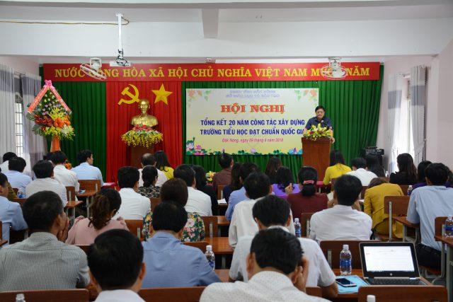 Hội nghị tổng kết 20 năm công tác xây dựng trường tiểu học đạt chuẩn quốc gia giai đoạn 1997-2017