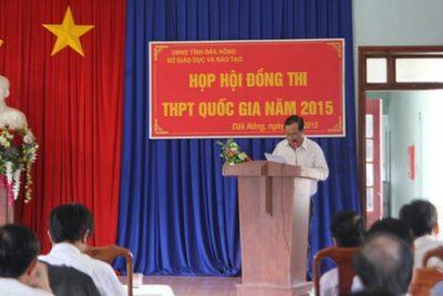 Họp Hội đồng thi kỳ thi THPT quốc gia năm 2015
