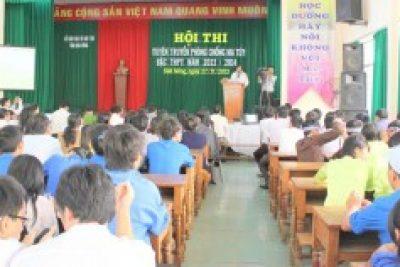 """Hội thi """"Tuyên truyền phòng chống ma túy bậc THPT -năm 2013"""""""