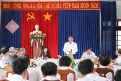 Đồng chí Trần Quốc Huy-UVBCHTW Đảng, Bí thư Tỉnh ủy làm việc với Sở Giáo dục và Đào tạo