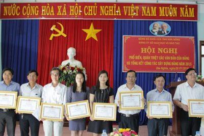 Hội nghị phổ biến, quán triệt các văn bản của Đảng và tổng kết công tác xây dựng Đảng năm 2015