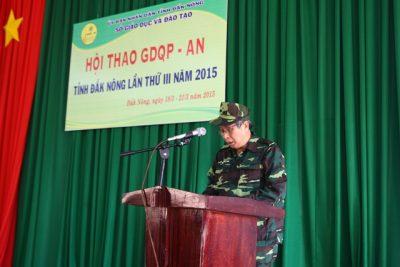 Hội thao Giáo dục quốc phòng – an ninh học sinh THPT tỉnh Đắk Nông lần thứ III, năm học 2014 – 2015