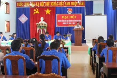 Đai hội Đoàn cơ sở Sở GDĐT tỉnh Đăk Nông lần thứ V, nhiệm kỳ 2014-2017.
