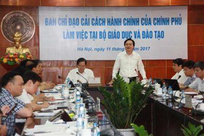Ban Chỉ đạo Cải cách hành chính của Chính phủ làm việc với Bộ Giáo dục và Đào tạo