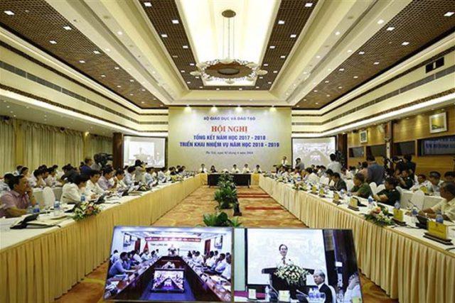 Bộ GDĐT: Hội nghị tổng kết năm học 2017-2018, triển khai nhiệm vụ năm học 2018-2019