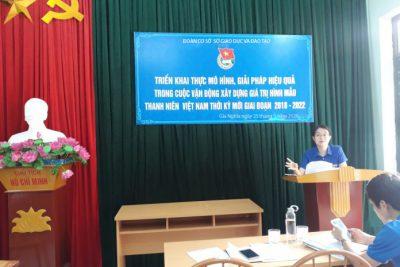Triển khai mô hình, giải pháp hiệu quả trong cuộc vận động xây dựng giá trị hình mẫu thanh niên Việt Nam thời kỳ mới, giai đoạn 2018 – 2022