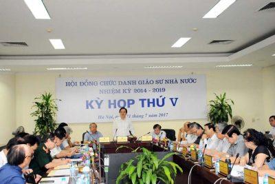 Kỳ họp thứ V Hội đồng chức danh giáo sư nhà nước