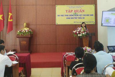 Sở GDĐT tổ chức tập huấn dạy học tăng cường tiếng Việt cho học sinh tiểu học vùng DTTS