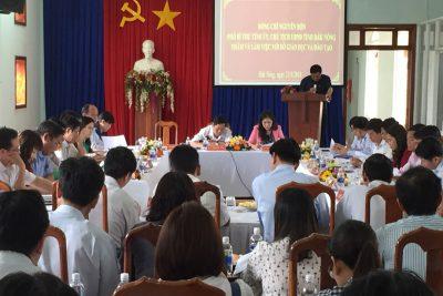 Chủ tịch UBND tỉnh Nguyễn Bốn làm việc với Sở Giáo dục và Đào tạo