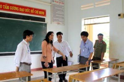 Ban chỉ đạo kỳ thi tốt nghiệp THPT tỉnh kiểm tra công tác chuẩn bị kỳ thi tại huyện Krông Nô, Cư Jút